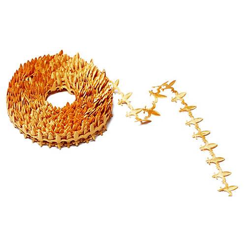 Satin Cutouts Ribbon, Gold Fleur-de-Lis