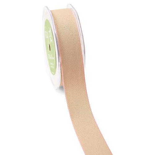 Solid Ribbon, Natural/Pink