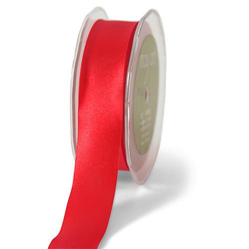 Single-Faced Satin Ribbon, Red