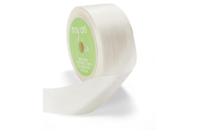 Silk Ribbon, White