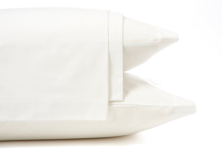 Queen Hotel Cannes Bed Set, White
