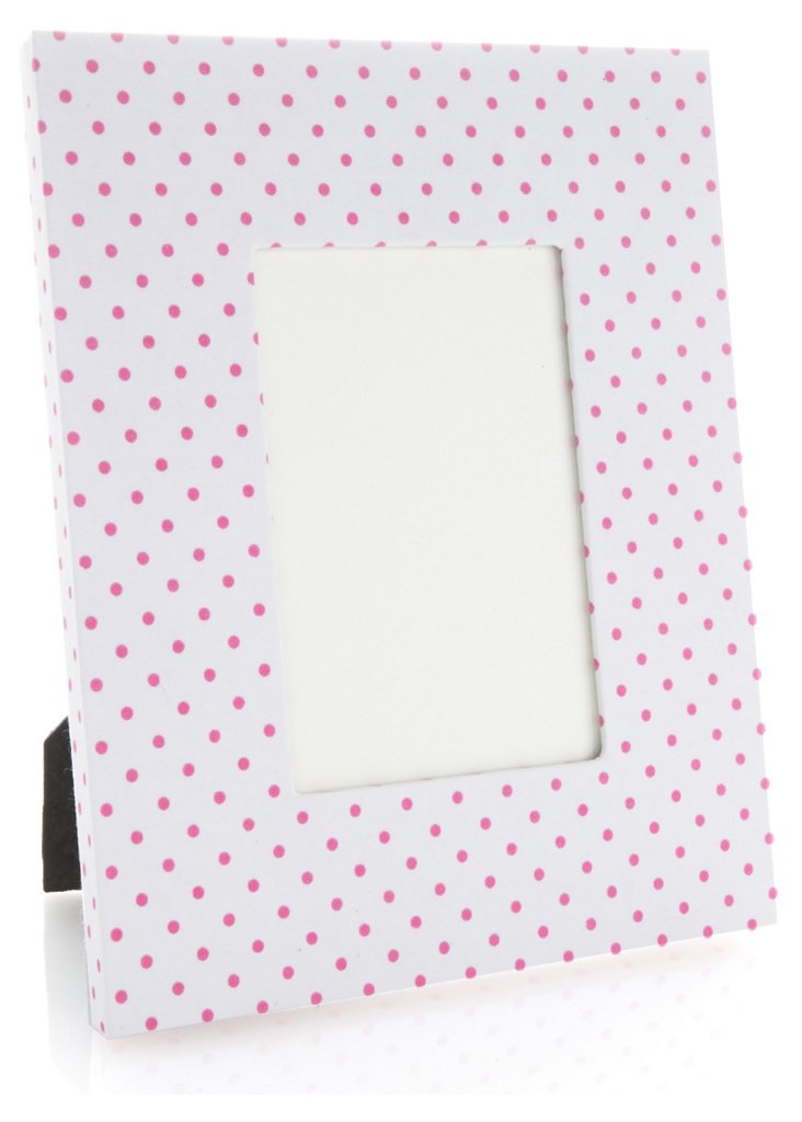 "5"" x 7"" Frame, Pink Mini Confettis"