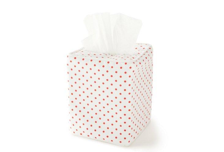 Tissue Box Cover,  Mini Confettis Red