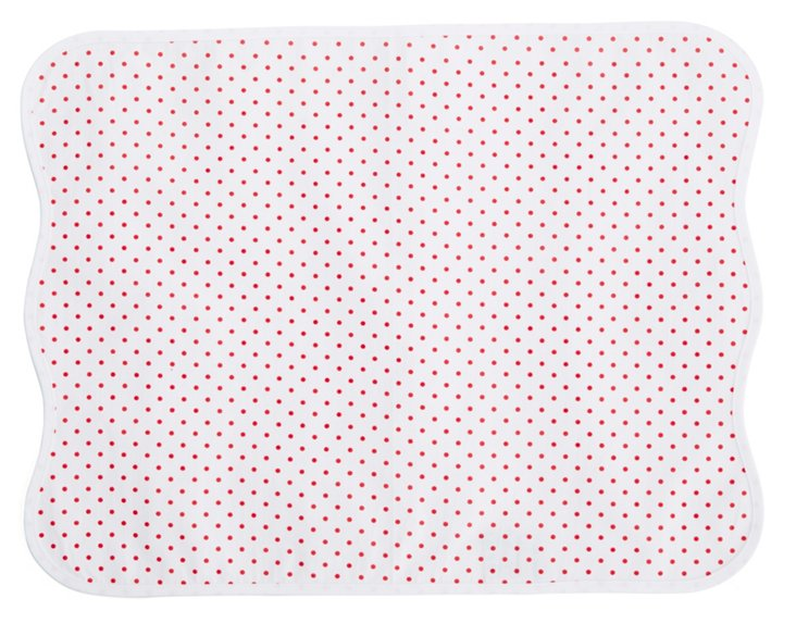 Red Confettis Place Mat