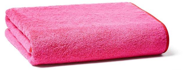 Bath Towel, Fuschia/Red