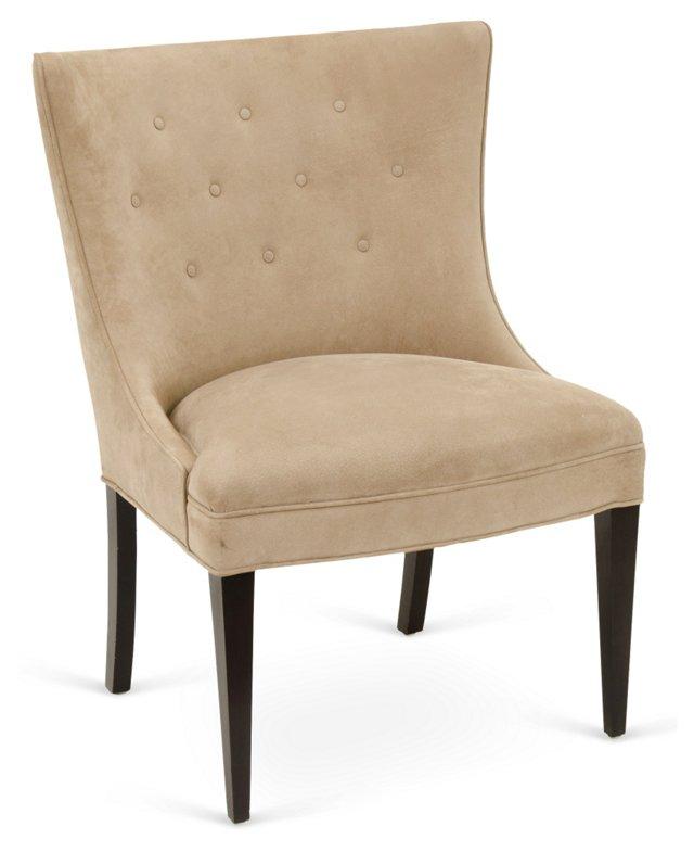 Cove Chair, Tan Suede