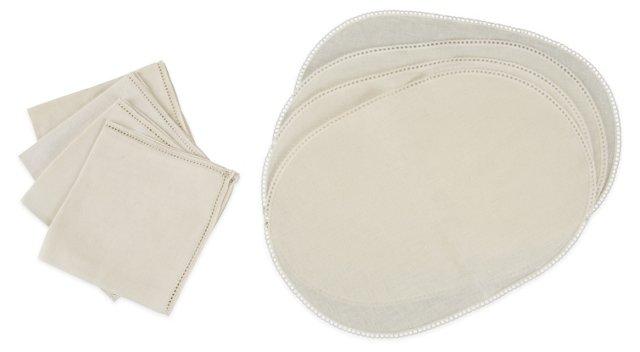 Oval mats & Napkins, Set of 8