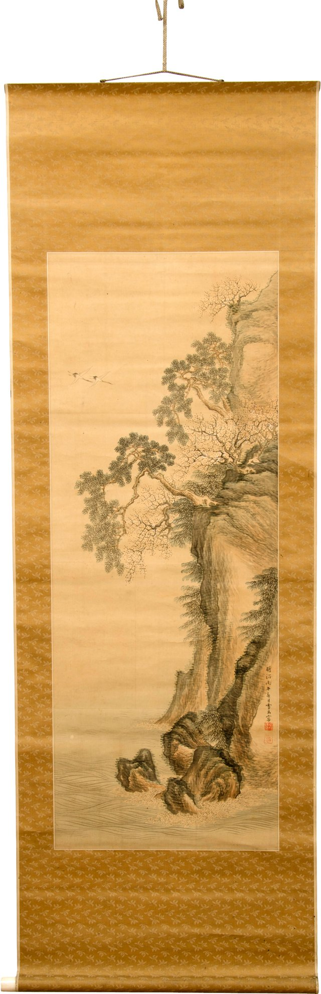 Antique Japanese Hanging Scroll