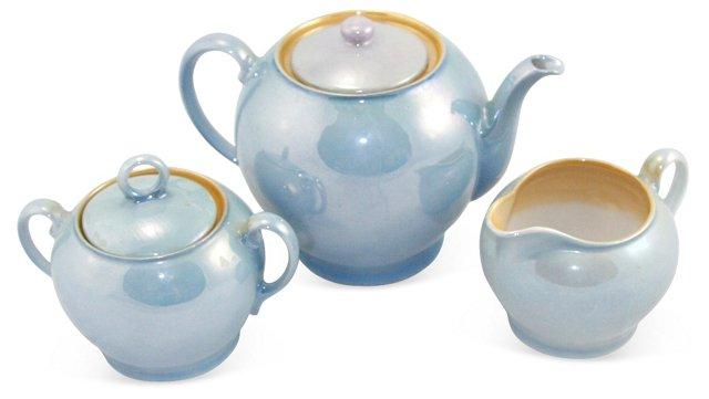 Vintage Lusterware Tea Set, Set of 3