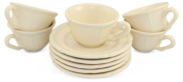 Tea Cup & Saucer Set, 10 Pcs.