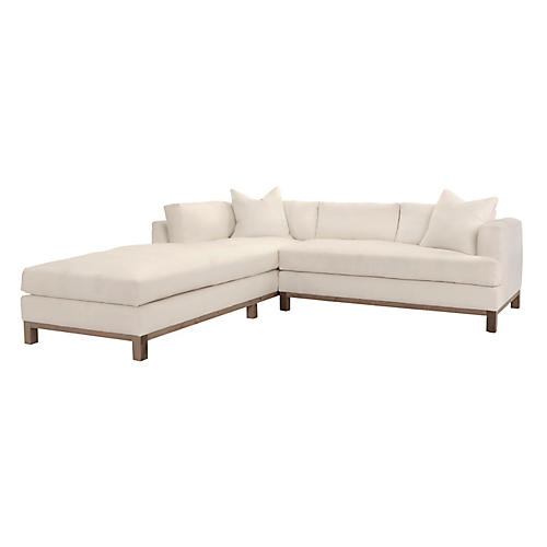 Haley Left-Facing Sectional, Ivory