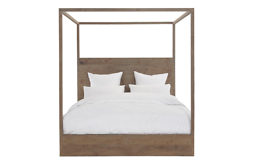 Latrobe Canopy Bed, Natural