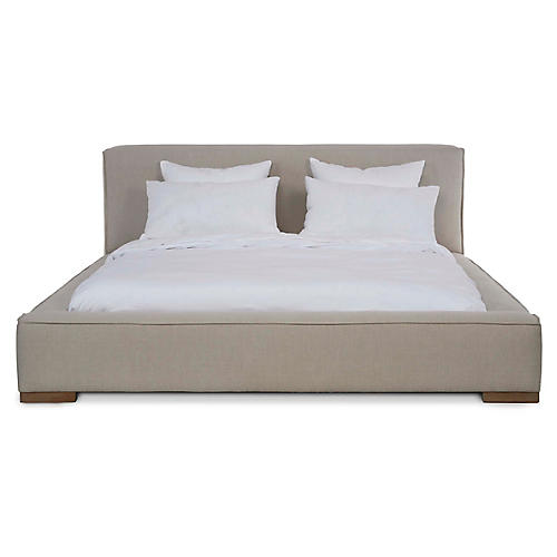 Edson Platform Bed, Natural Linen