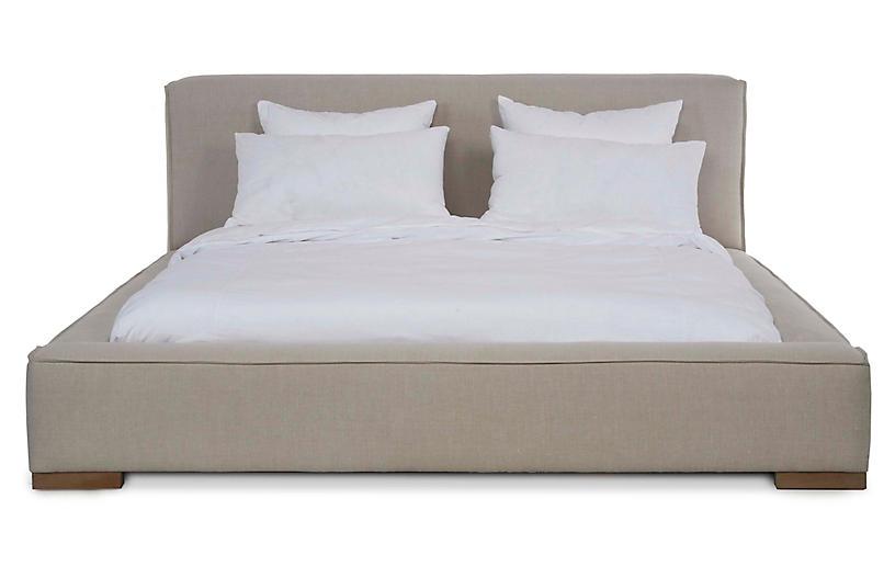 Edson Platform Bed, Natural Linen
