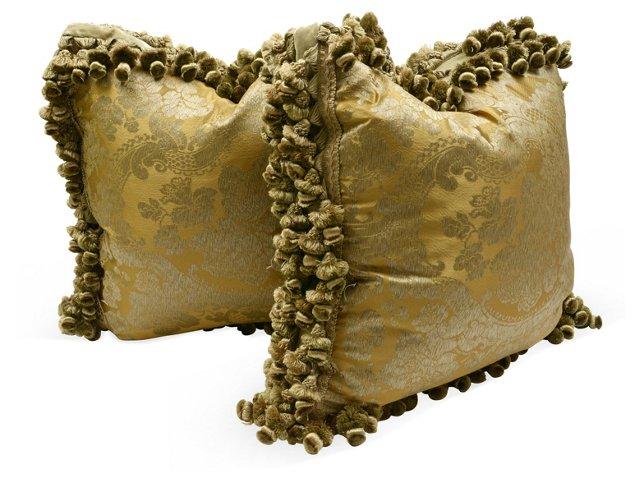 Ebinista Silk Pillows, Pair
