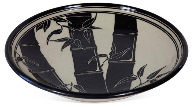Studio Pottery Bamboo Platter