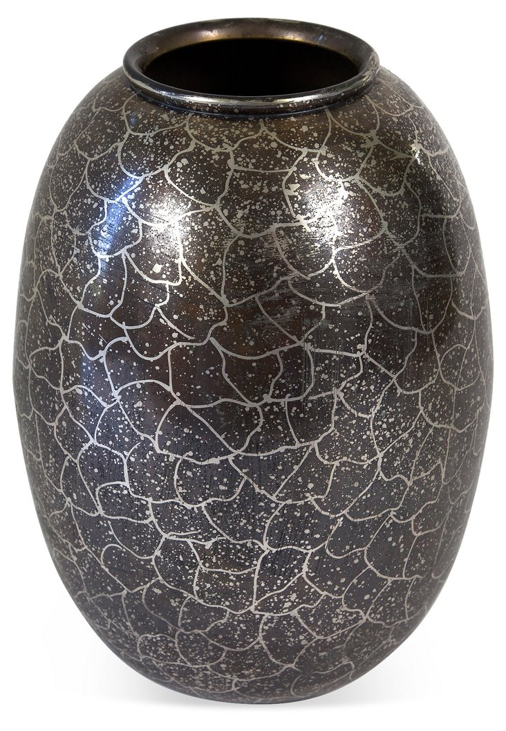 Indian Metallic Dragon Scales Vase