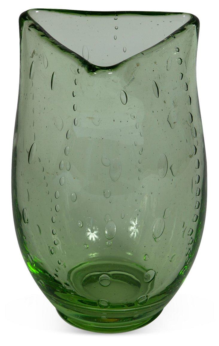 Italian Glass Triangle Vase