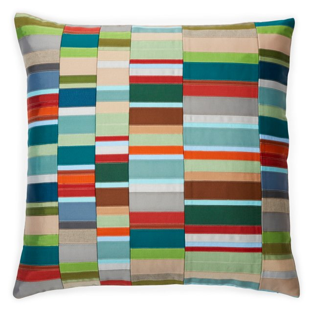 Ribbon-Stripe Pillow I