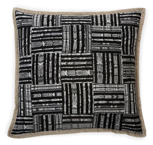 Ikat Patchwork Pillow