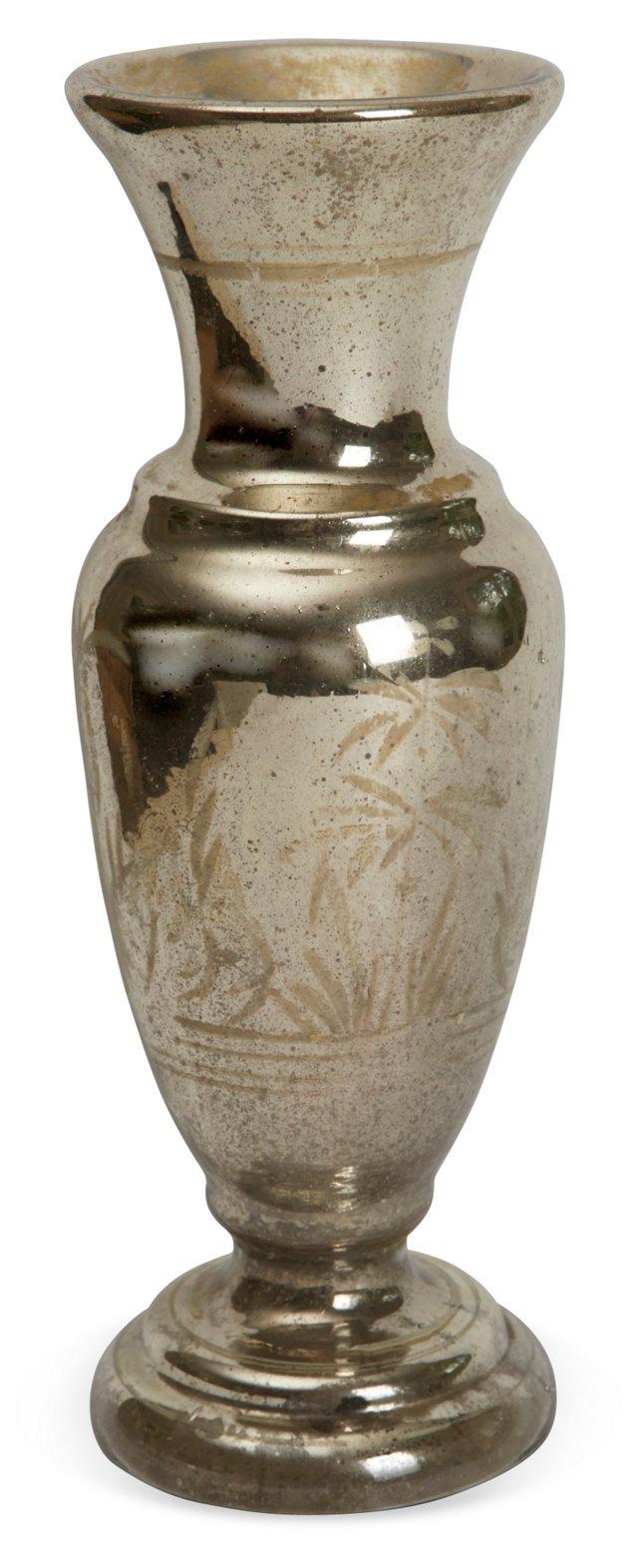 19th-C. Mercury Glass Vase