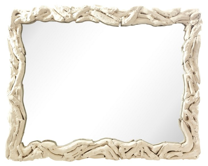 Distressed Root Mirror
