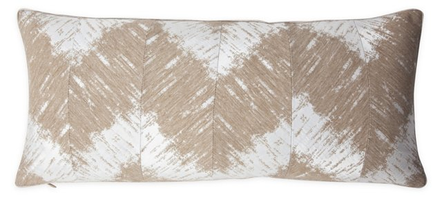 Chevron Ikat Stripe Pillow