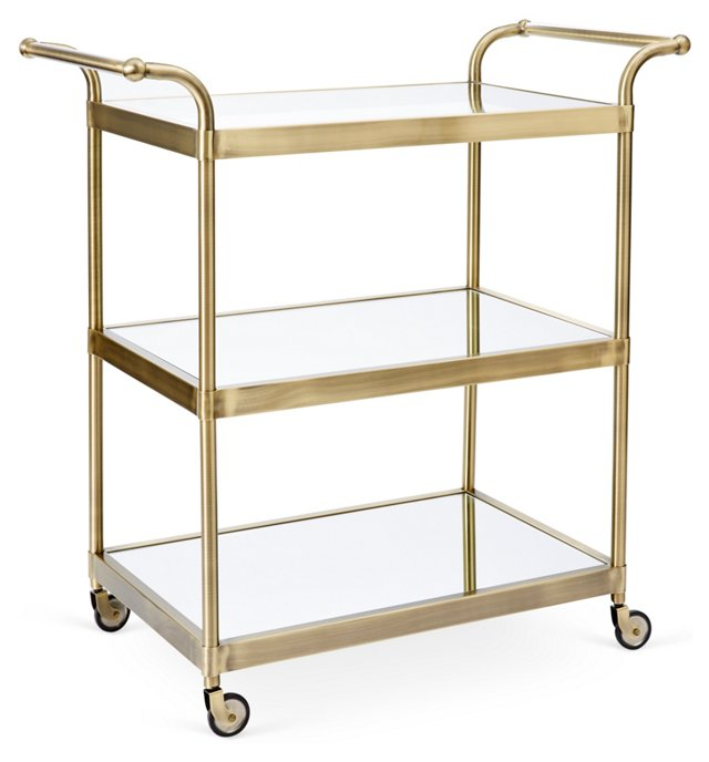 Lolita Bar Cart, Gold