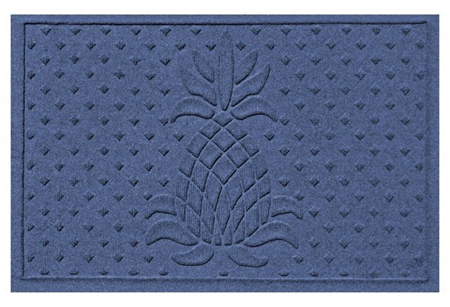 "1'11"" x 3' Pineapple Mat, Navy"