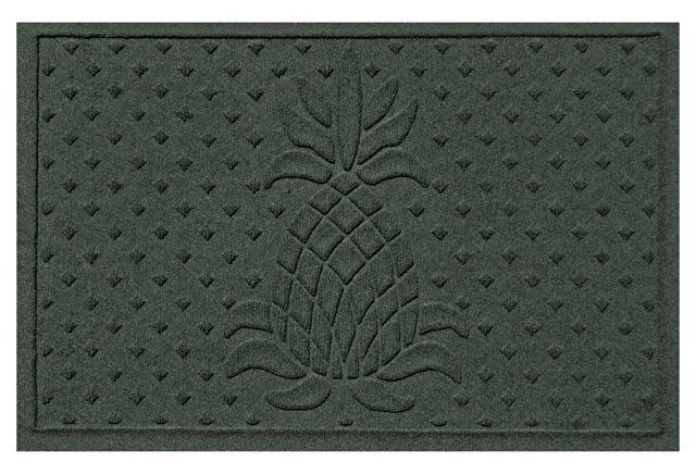 """1'11""""x3' Pineapple Mat, Evergreen"""