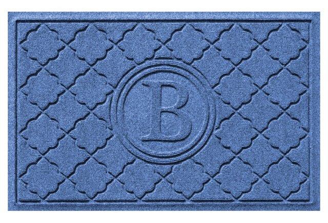 Bombay Monogram Mat, Blue