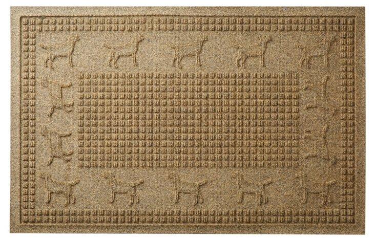 "1'11"" x 3' Lab Squares Mat, Camel"