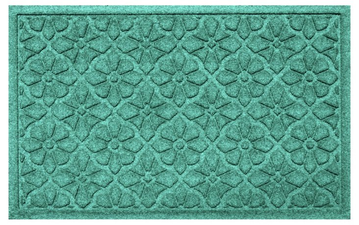 Medallion Mat, Aquamarine