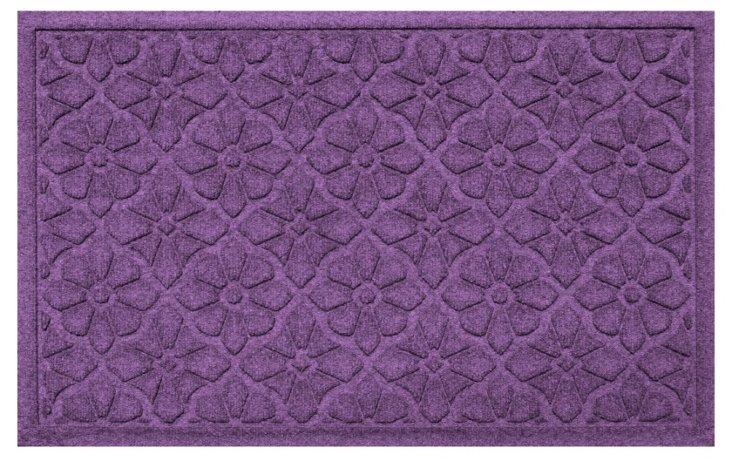 "1'11""x3' Medallion Mat, Purple"