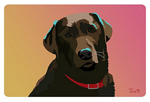 Chocolate Lab New Wave Mat