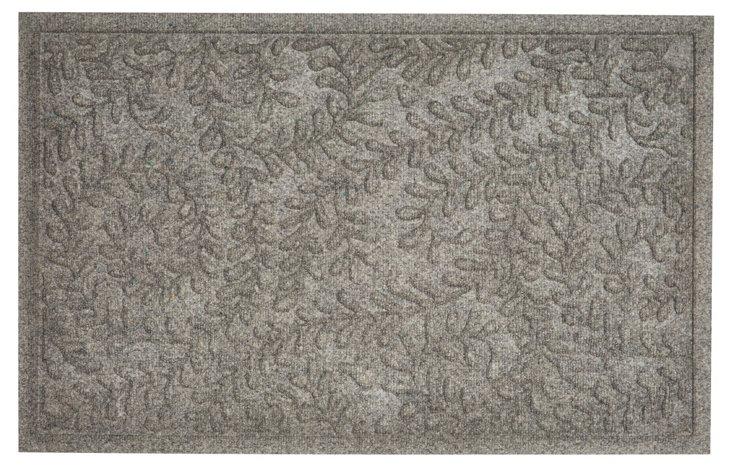 "1'11""x3' Boxwood Doormat, Gray"