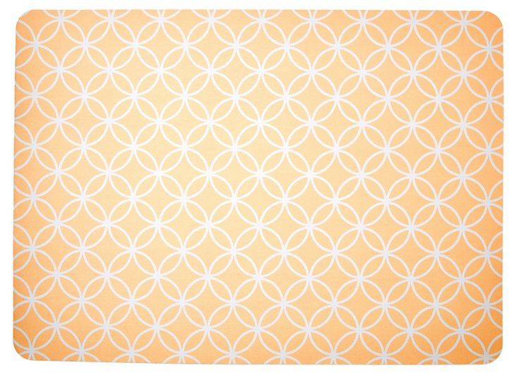 "1'11""x2'7"" Bloom Floor Mat, Cashew"
