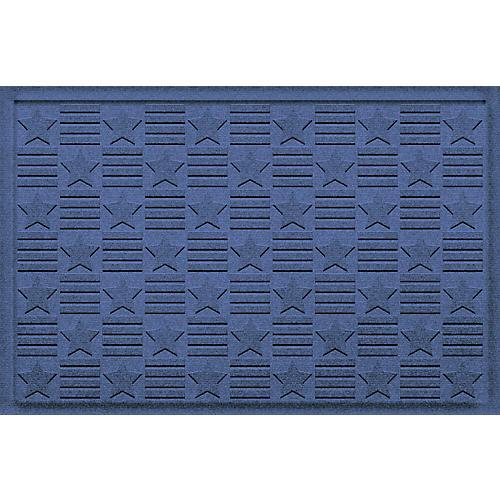 Stars Grid Doormat, Navy