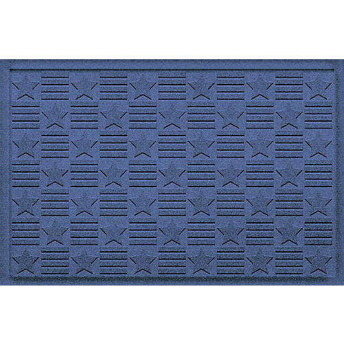 Stars Grid Doormat, Navy