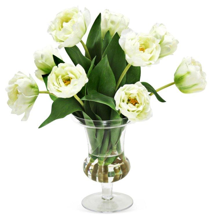 """19"""" Tulips in Urn, Faux"""