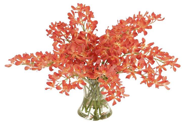 "29"" Vanda Orchids in Vase, Faux"