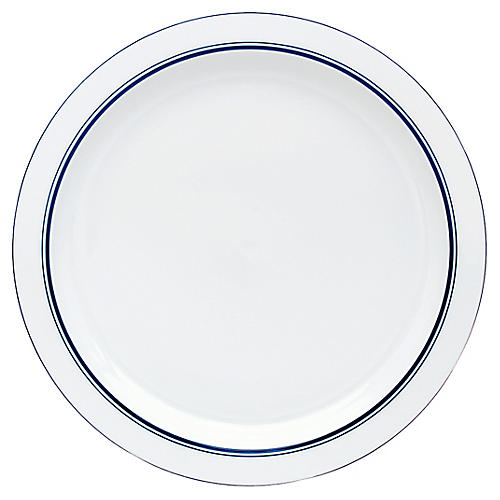 Bistro Christianshavn Salad Plate, White/Blue
