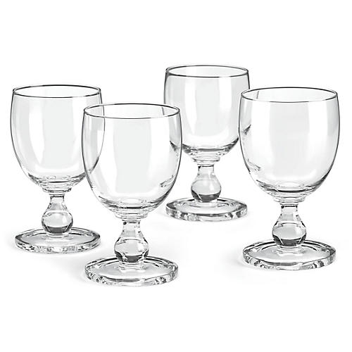 S/4 Hanna Goblets, Clear