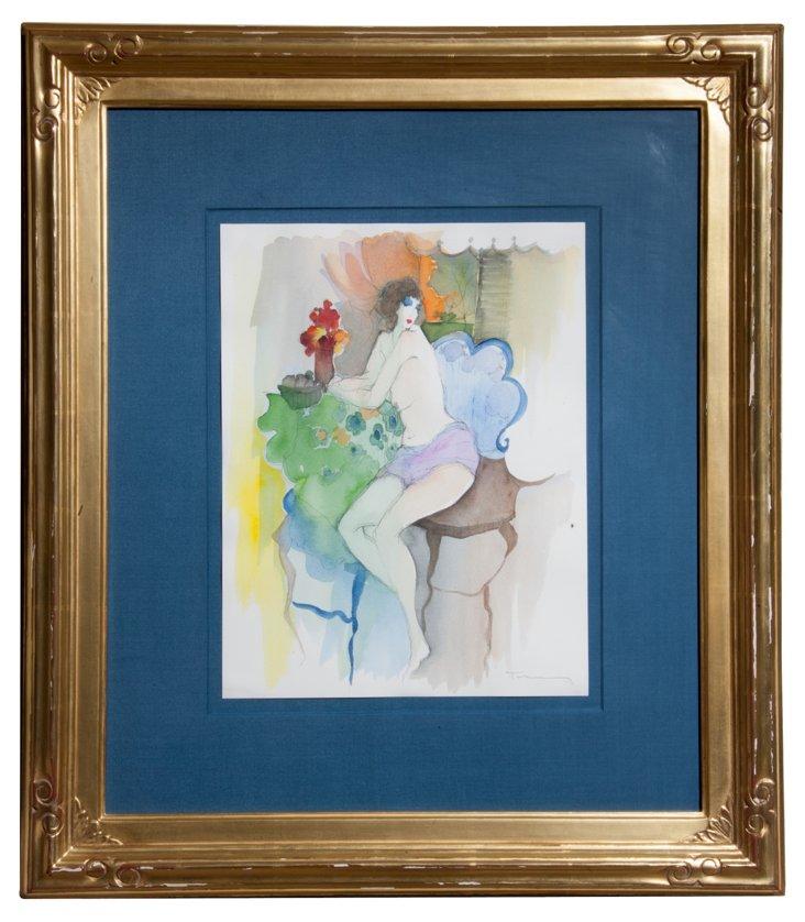 Framed Watercolor Portrait