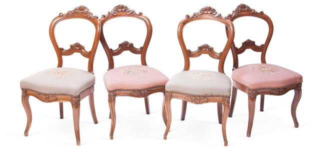 Victorian Dining Chairs, Set of 4