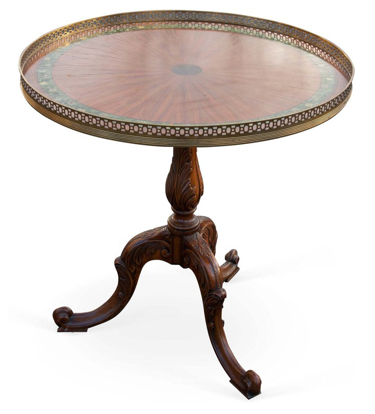 Brass Gallery Table