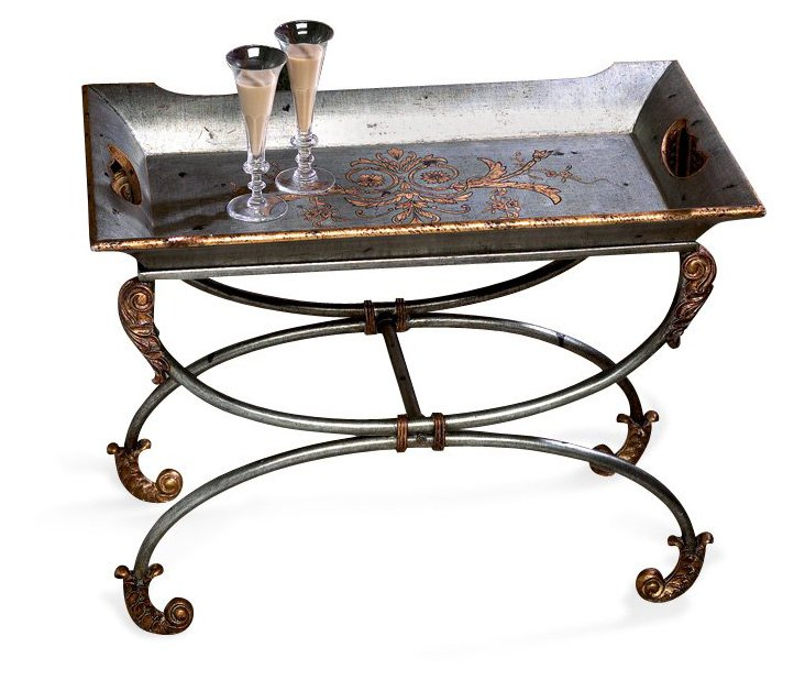 Jameson Pewter Tray w/ Stand