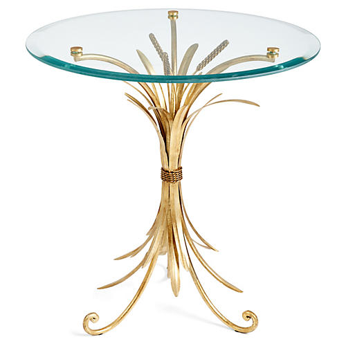 Wheat-Sheaf Side Table, Gold