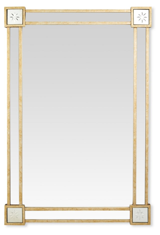 Irving Wall Mirror, Antiqued Gold
