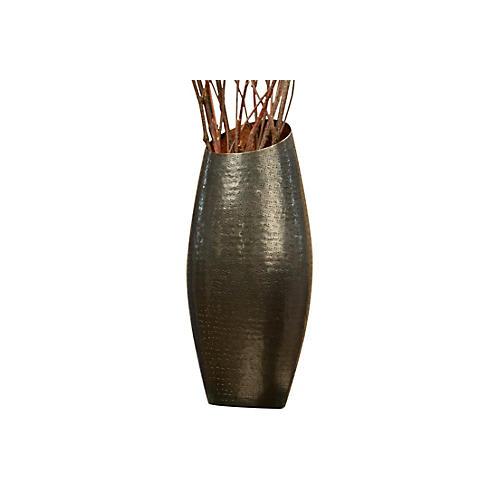 """27"""" Ornamental Vase, Bronze/Copper"""